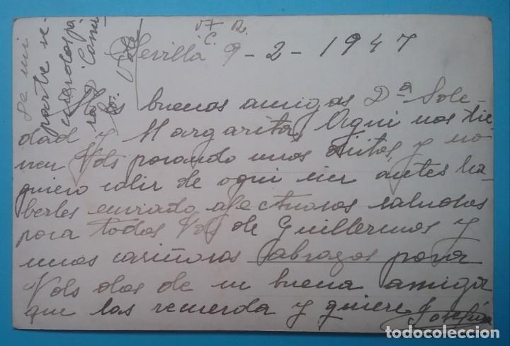 Postales: VIRGEN DE LA MACARENA POSTAL FOTOGRÁFICA 1947 SEVILLA - Foto 2 - 180387178