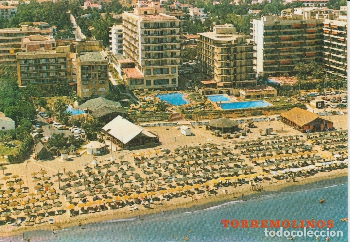 (1) TORREMOLINOS. PLAYA DE LA CARIHUELA (Postales - España - Andalucia Moderna (desde 1.940))