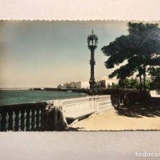 Postales: CÁDIZ. POSTAL COLOREADA NO.130, RINCÓN ALAMEDA MARQUÉS DE COMILLAS. EDITA: ED. SICILIA (A.1956). Lote 180485162
