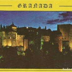 Postales: [POSTAL] ALHAMBRA. VISTA NOCTURNA. GRANADA (SIN CIRCULAR). Lote 180488835