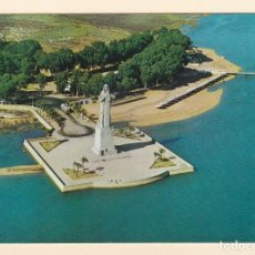 Cartes Postales: POSTAL VISTA AEREA MONUMENTO A COLON. HUELVA (1964). Lote 181031075