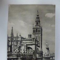 Postales: POSTAL. 77. SEVILLA. CATEDRAL. VISTA PARCIAL. ED. HELIOTIPIA ARTÍSTICA ESPAÑOLA. CIRCULADA. . Lote 181733798