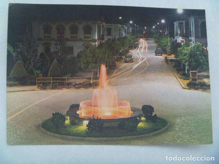 POSTAL DE PALMA DEL RIO ( CORDOBA ): FUENTE ILUMINADA, NOCTURNA. AÑOS 60 (Postales - España - Andalucia Moderna (desde 1.940))