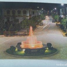 Postales: POSTAL DE PALMA DEL RIO ( CORDOBA ): FUENTE ILUMINADA, NOCTURNA. AÑOS 60. Lote 181799088