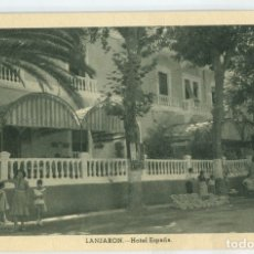 Postales: LANJARÓN (GRANADA) HOTEL ESPAÑA. HUECOGRABADO FOURNIER.. Lote 181950031