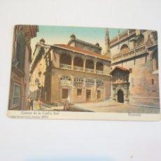 Postales: EXTERIOR DE LA CAPILLA REAL. NO DIVIDIDA, COLOREADA. GRANADA 1904 STENGEL.. Lote 182089267