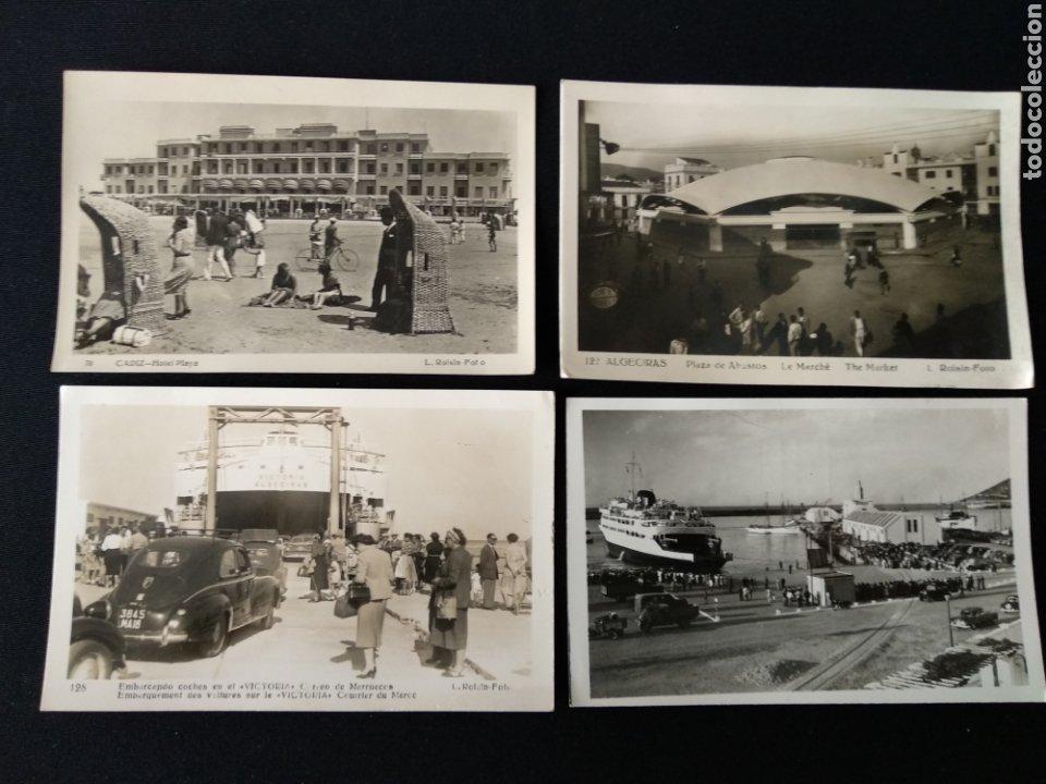 LOTE 4 POSTALES ANTIGUAS CÁDIZ, ROISIN FOTO (Postales - España - Andalucia Moderna (desde 1.940))