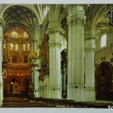 Postales: POSTAL GRANADA, CATEDRAL, CAPILLA MAYOR Y COLUMNAS. Lote 182291393