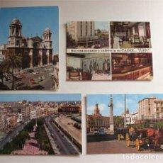 Postales: CUATRO POSTALES DE CÁDIZ. VER RELACIÓN. Lote 182540076
