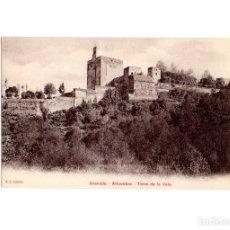 Postales: GRANADA.- ALHAMBRA. TORRE DE LA VELA.. Lote 182635583