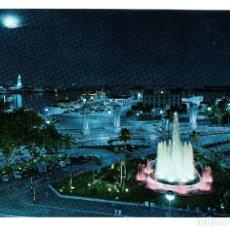 Postales: MALAGA (COSTA DEL SOL) PLAZA QUEIPO DE LLANO ASPECTO NOCTURNO- GARCIA GARRABELLA Nº 80 NO CIRCULADA. Lote 182636473