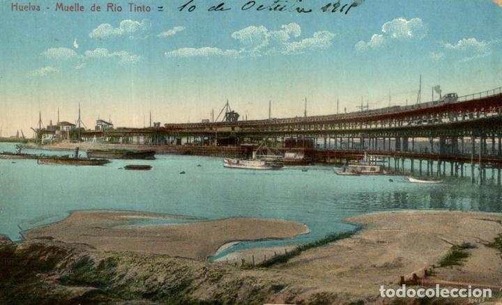 HUELVA. - MUELLE DE RIO TINTO (Postales - España - Andalucía Antigua (hasta 1939))