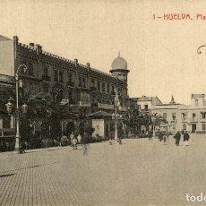 Postales: HUELVA. - PLAZA DE LAS MONJAS. Lote 182662877