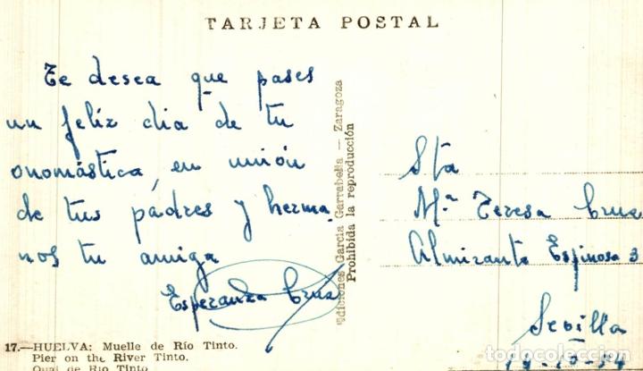 Postales: HUELVA. - MUELLE DE RIO TINTO - Foto 2 - 182662900