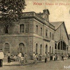 Postales: MALAGA ESTACION DEL FERRO CARRIL. Lote 182692277