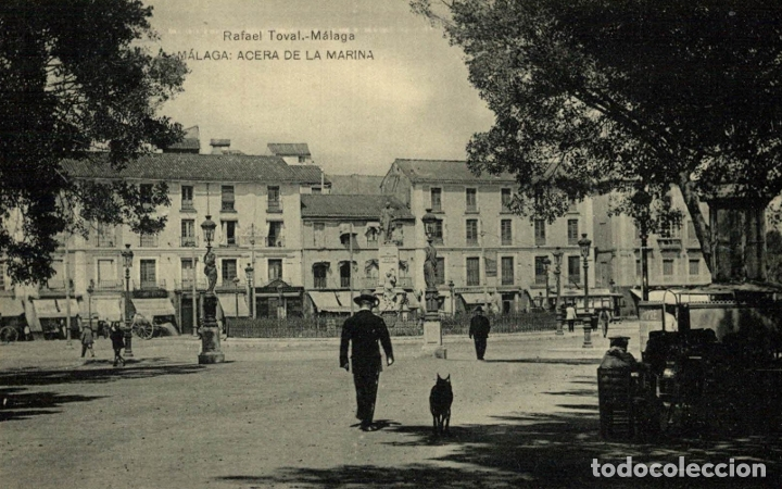 RAFAEL TOVAL MÁLAGA ACERA DE LA MARINA (Postales - España - Andalucía Antigua (hasta 1939))
