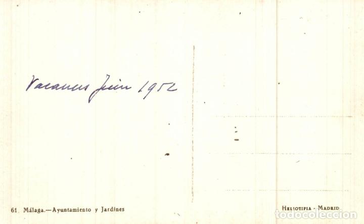 Postales: 61 MALAGA AYUNTAMIENTO Y JARDINES - Foto 2 - 182693353
