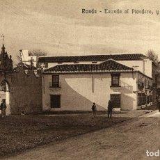 Postales: RONDA.(MÁLAGA).- ENTRADA AL PICADERO Y CALLE SAN CARLOS. Lote 182694757