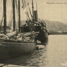 Postales: MALAGA. DETALLE DEL PUERTO. Lote 182695743