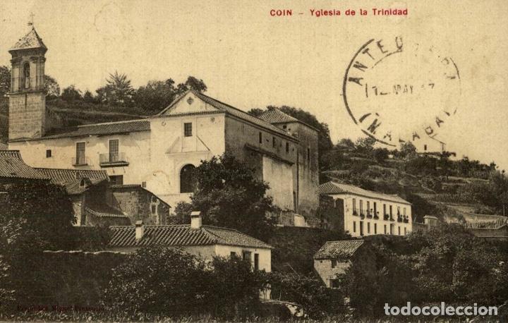COIN. MALAGA. YGLESIA DE LA TRINIDAD (Postales - España - Andalucía Antigua (hasta 1939))