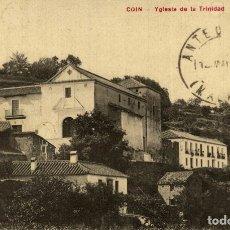 Postales: COIN. MALAGA. YGLESIA DE LA TRINIDAD. Lote 182695971