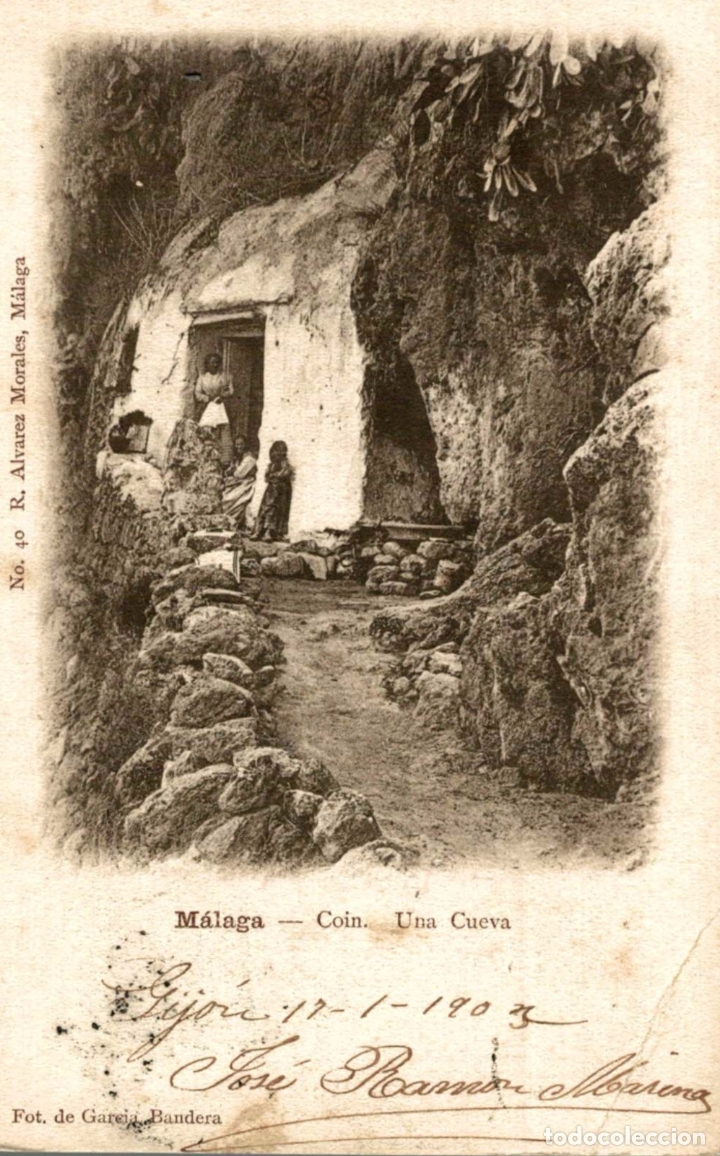 MALAGA. COIN. UNA CUEVA (Postales - España - Andalucía Antigua (hasta 1939))