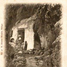 Postales: MALAGA. COIN. UNA CUEVA. Lote 182697437