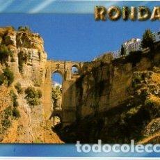 Postales: RONDA - MALAGA - Nº 572 PANORAMICA DEL TAJO DE RONDA - AÑO 1992 - SIN CIRCULAR. Lote 182704047