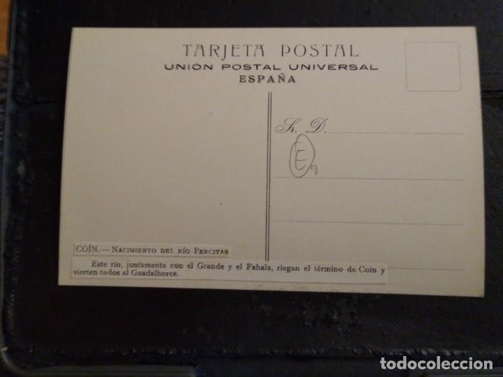 Postales: Coin. Nacimiento del río Percitas. Sin circular. Málaga - Foto 2 - 182714001