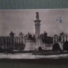 Postales: POSTAL PLAZA DE ESPAÑA. MONUMENTO A LAS CORTES. Lote 182797771