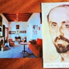 Postales: MOGUER. HUELVA. CASA MUSEO JUAN RAMÓN JIMÉNEZ. SIN CIRCULAR. 2 POSTALES. Lote 182841448