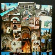 Postales: LOTE 25 POSTALES DE LA ALHAMBRA DE GRANADA Y GENERALIFE (AÑOS 60) ED. VARIAS -VER TODAS LAS FOTOS. Lote 182872903