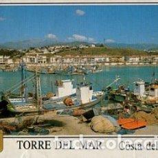 Postales: TORRE DEL MAR - COSTA DEL SOL - Nº 27 LA CALETA DE VELEZ - AÑO 1990 - SIN CIRCULAR. Lote 182888586