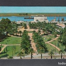 Postales: HUELVA. MUELLE Y JARDINES. Lote 183023777