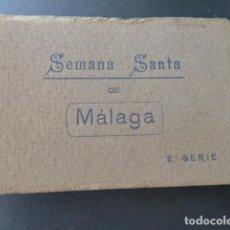 Postales: MALAGA SEMANA SANTA CUADERNILLO CON 15 POSTALES FOTOGRAFICAS HACIA 1915. Lote 183442753