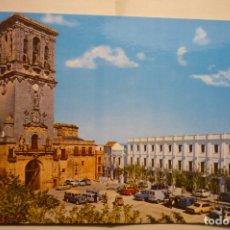 Postales: POSTAL ARCOS DE LA FRONTERA - IGLESIA SANTA MARIA Y PARADOR. Lote 183480465