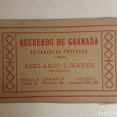 Postales: GRANADA CUADERNILLO 25 POSTALES (A FALTA DE 5) FOTOGRAFO ABELARDO LINARES. Lote 183600882
