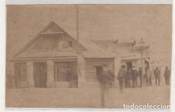FOTOGRAFÍA ALBÚMINA. CÁDIZ. UNA OFICINA DEL PUERTO. NO FIGURA FOTÓGRAFO. (Postales - España - Andalucía Antigua (hasta 1939))