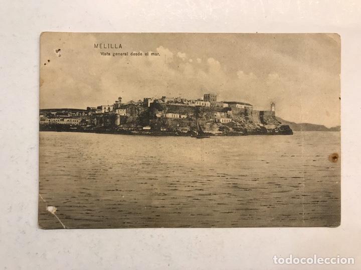 MELILLA. POSTAL VISTA GENERAL DESDE EL MAR. EDITA: FOTO PESO MELILLA (H.1920?) (Postales - España - Andalucía Antigua (hasta 1939))