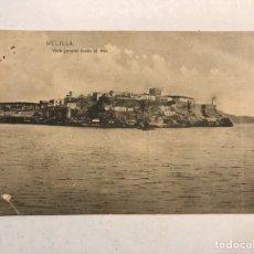 Postales: MELILLA. POSTAL VISTA GENERAL DESDE EL MAR. EDITA: FOTO PESO MELILLA (H.1920?). Lote 183862996