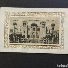 Postales: SEVILLA-EXPOSICION HISPANO AMERICANA-POSTAL DESPEGABLE ANTIGUA-(64.663). Lote 184130362