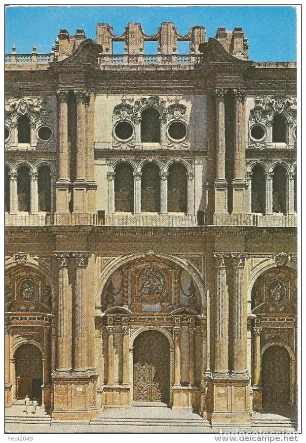 == D1070 - POSTAL - MALAGA - CATEDRAL - FACHADA PRINCIPAL (Postales - España - Andalucia Moderna (desde 1.940))