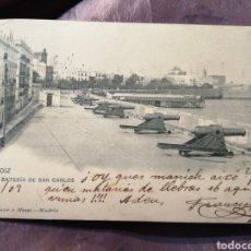 Postales: CPA BATERÍA DE SAN CARLOS FECHA DE 1903. Lote 186107353