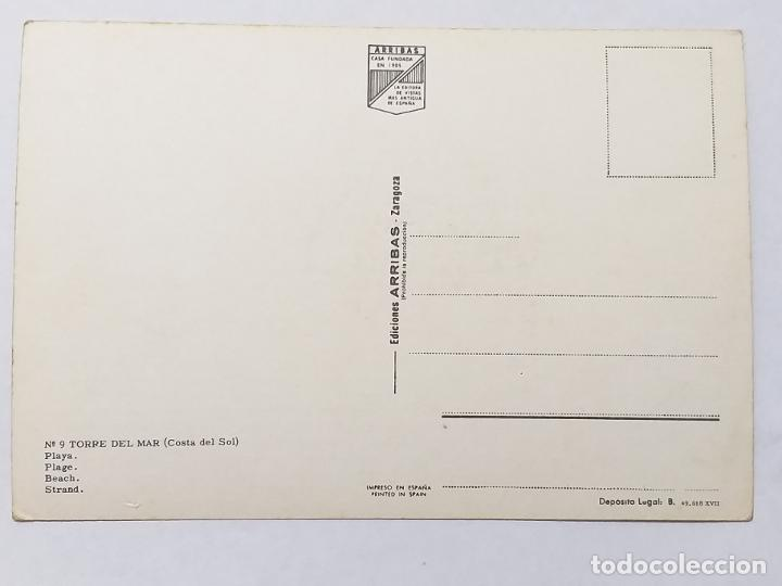 Postales: POSTAL DE MALAGA. TORRE DEL MAR. PLAYA. ED. ARRIBAS Nº 9. SIN CIRCULAR - Foto 2 - 186250788
