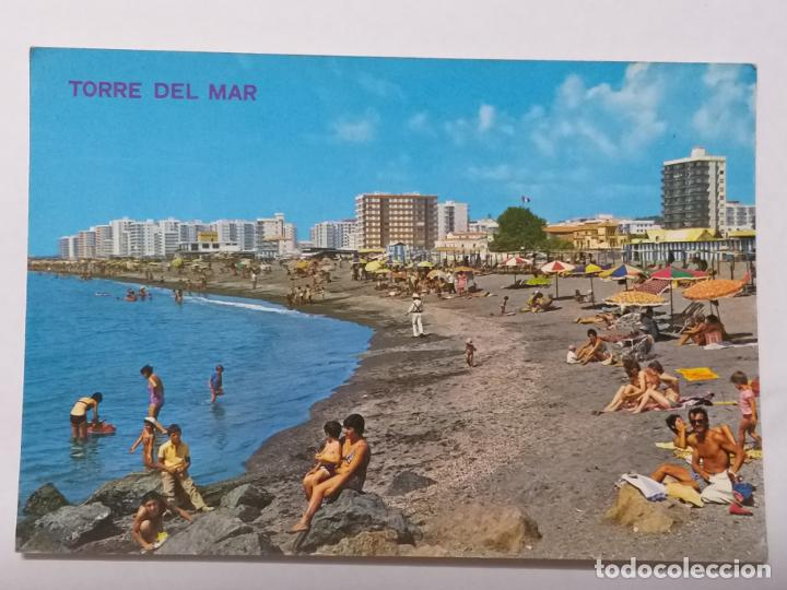POSTAL DE MALAGA. TORRE DEL MAR. PLAYA. ED. ARRIBAS Nº 9. SIN CIRCULAR (Postales - España - Andalucia Moderna (desde 1.940))