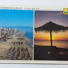 Postales: POSTAL DE TORREMOLINOS. MÁLAGA. COSTA DEL SOL. PLAYA.. Lote 186281516