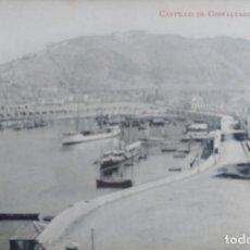 Postales: TARJETA POSTAL MALAGA. CASTILLO DE GIBRALFARO Y PUERTO Nº 15, FOTOTIPIA MADRIGUERA. Lote 189329448