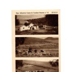 Postales: SEVILLA.- RGTO. INFANTERÍA CARROS DE COMBATE BRUNETE. Nº62. GRANJA.. Lote 189681672
