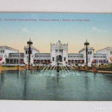Postales: POSTAL SEVILLA - EXPOSICIÓN IBERO-AMERICANA, ESTANQUE CENTRAL Y PALACIO DE BELLAS ARTES - C.R.S.. Lote 189806966