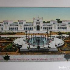 Postales: POSTAL SEVILLA - EXPOSICIÓN IBERO-AMERICANA, ESTANQUE CENTRAL Y PALACIO DE BELLAS ARTES - C.R.S.. Lote 189806985
